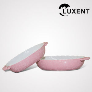 Modern Ceramic Oval Wavy Shape Fruit Baking Tray with Ears pictures & photos