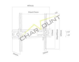 "Max Vesa 400X400mm Hot Sales Universal Tilting TV Bracket Mounts for 26""-55"" Screens (CT-PLB-E902NA) pictures & photos"