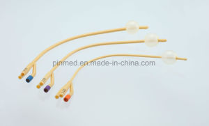 Disposable 3 Way Latex Foley Catheter pictures & photos