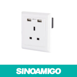 Sinoamigo BS Power Socket with USB Charger Wall Socket pictures & photos