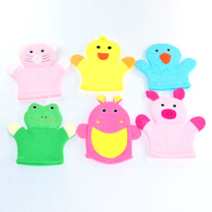 Animal Shape Baby Bath Washing Towel Gloves pictures & photos