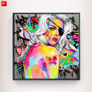 Colorful White Hair One-Eye Woman Wall Decor pictures & photos