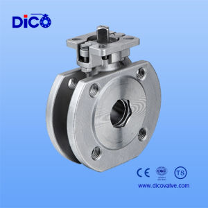 1PC Italy Carbon Steel Ss304 Wafer Ball Valve with Handle pictures & photos