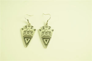 Triangle Alloy with Eagle Texture Earring pictures & photos