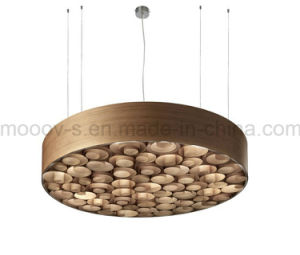 Handcraft Circular Disk Wood Working Honeycomb LED Pendant Light pictures & photos