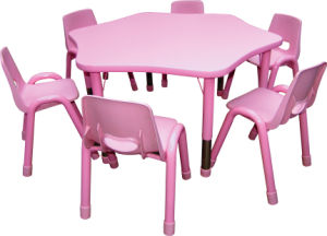 Kid Furniture for Children Desk and Chair Hl3 pictures & photos