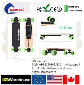 Hot! ! ! Us Germany Warehouse Stock 2year Warranty Four Wheel Dual Hub Motor Electric Skateboard 40km/H pictures & photos