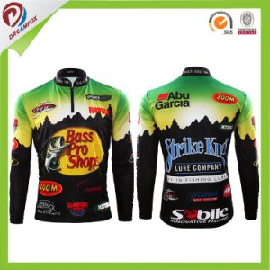 Wholesale Free Custom Sublimation 1/4 Zipper with Collar Fishing Shirts pictures & photos