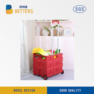 Greenstuff storage Folding Cart Trolley of Opening Folds pictures & photos