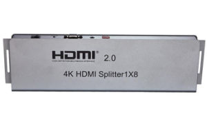 1X8 HDMI Splitter (HDMI 2.0, HDCP2.2, 4K, IR extension, EDID management, RS232) pictures & photos