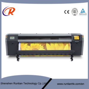 High Speed 3.2m Flora Konical Printhead Eco Solvent Printing Machine pictures & photos