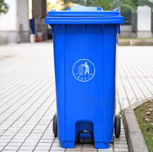 240 Liter Durable HDPE Plastic Foot Pedal Waste Bin Trash Bin pictures & photos