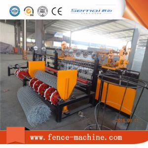 PVC Chain Link Fence Making Machine pictures & photos