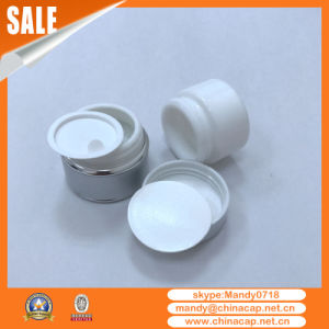 Wholesale Cosmetics Aluminum Glass Cream Jar with Lids pictures & photos