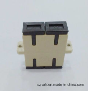 Sc Sm Dx Fiber Optic Duplex Adaptor with Beige Color Ark pictures & photos
