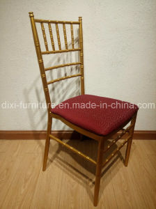 Wedding Aluminum Chiavari Chair with Fixed Seat Cushion pictures & photos