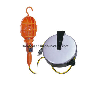 Incandescent Plastic Retractable Cord Reel Work Light pictures & photos