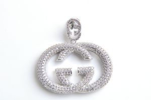 Hot Sale Fashion 925 Silver Double G Pendant with CZ pictures & photos