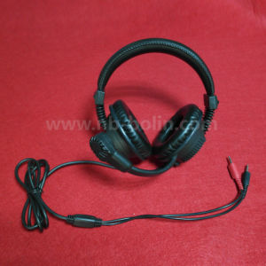 3.5mm Plug Connect Language Lab Headphone with Mic pictures & photos