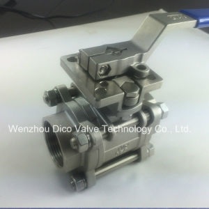 3PC Ball Valve with Mounting Pad Full Bore Threaded pictures & photos