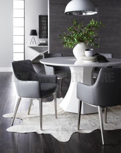 Popular Home Goods Metal Frame Modern Leather Dining Chair (NK-DCA075) pictures & photos