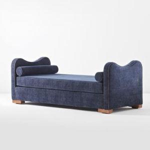 Hotel Furniture Bedroom Solid Wood Frame Upholstered Bed End Bolster Bench pictures & photos