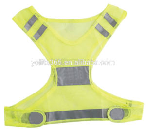 Fluorescent Fabric for Reflective Vest, White Safety Reflective Vest pictures & photos