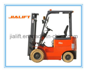 1 Ton Four Wheel Electric Forklift E10h with AC Motor pictures & photos