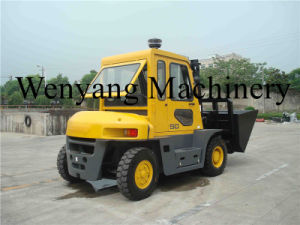 China High Quality Powered Palllet Truck Forklift with Dumping Bucket pictures & photos