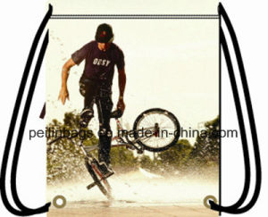 Fashion Design Polyester Drawstring Sports Backpack Gym Bag