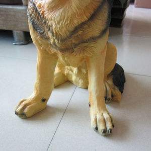 """14.5""""Lovely Lifelike Resin Statue Lucky Dog German Shepherd Dogs Home Decoration pictures & photos"""