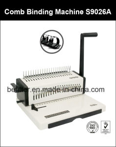 S9026A Steel A4 Size Book Comb Binding Machine pictures & photos