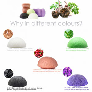 Natural Facial Cleaning Konjac Sponge pictures & photos