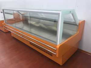 New Cooked Food Curved Glass Door Refrigerator Showcase pictures & photos