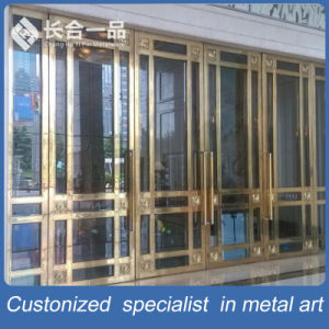 304# Stainless Steel Entrance Door with Tempered Glasse for Hotle Gate pictures & photos