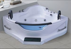 1550mm Massage Bathtub SPA with From Step Ce and RoHS for 2 Person (AT-9807) pictures & photos