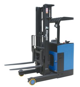 2ton Electric Reach Truck with Operating Seat Polyurethane Wheel pictures & photos