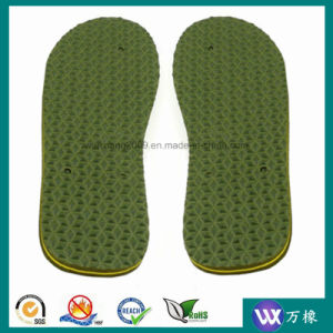 Green EVA Foam Rubber with Middle Line for Shoes pictures & photos