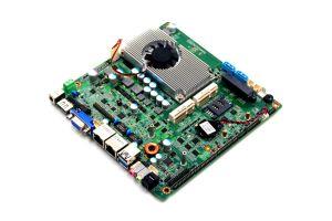 Desktop Fanless Mini-Itx Motherboards with J1800 Processor 2 LAN 6 COM pictures & photos