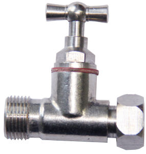 Female Thread Chromed Surface Brass Stop Valve pictures & photos