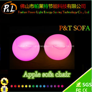 Color Changing Glow Illuminated Rechargeable LED Apple Sofa Chair pictures & photos