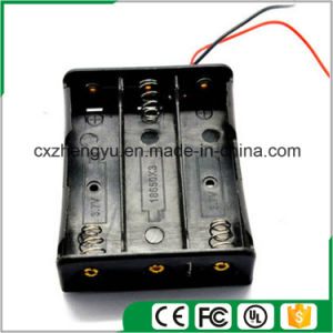 11.1V/3X18650 Battery Holder with Red/Black Wire Leads pictures & photos