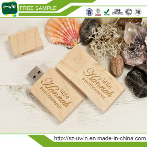 Wooden USB Stick Thumbdrive Flash Memory Swivel USB Flash Drive pictures & photos