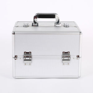 Silver Beauty Case, Aluminum Frame Makeup Case with High Quality pictures & photos