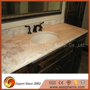 Black Polished Bathroom Quartz Vanity Top Countertop pictures & photos