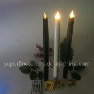 Home Decorative Fire Safe Long Using Energy Saving Flameless Taper Candle Gift for Indoor pictures & photos