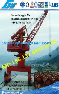 Hydraulic Bulk Cargo Port Unloading Railway Mobile Portal Crane pictures & photos