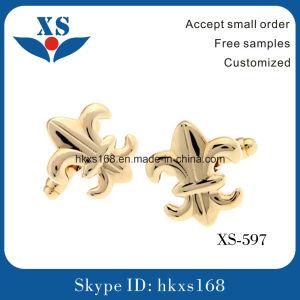 Gold Plated Custom Brass Cufflink for Man