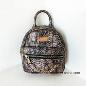 Wholesale Designer Ladies Snake Leather Mini Backpack (NMDK-042801)