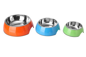 Melamine and Stainless Steel Dog Bowl pictures & photos